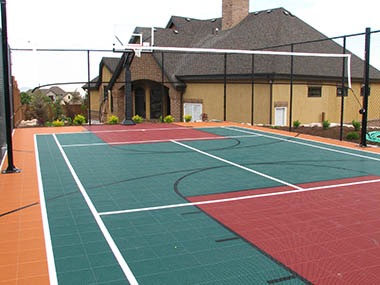 Volleyball / Basketball Court Builder and Accessories