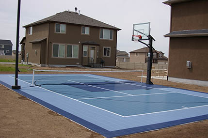 Family Basketball Court Builder and Accessories