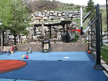 Backyard Basketball Court Builder and Accessories