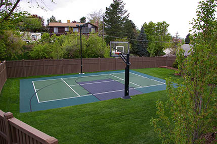 Sport court pictures sport court design build a sport for Backyard sport court ideas