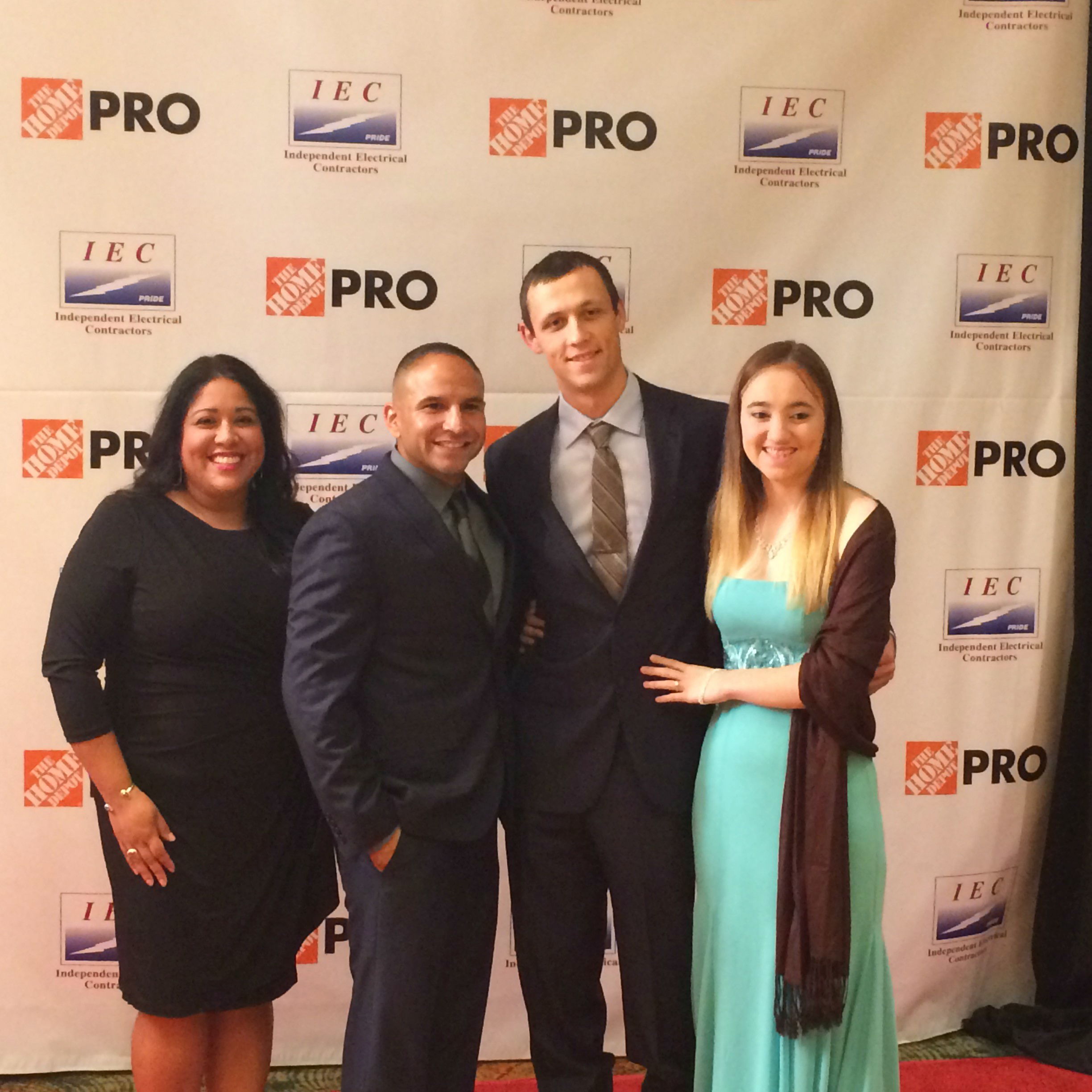 Riley with fiance, Aubrey, and Ray Gutierrez (GBI Production Mgr) and his wife Brandi