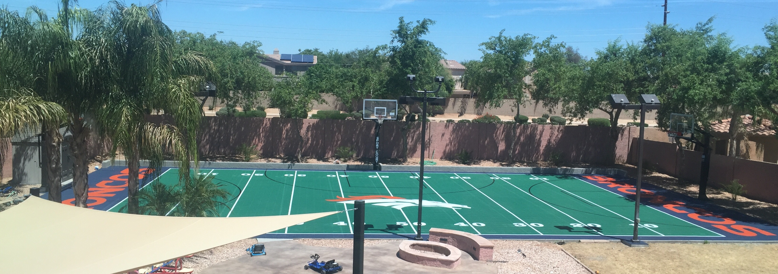 Custom Designed Backyard Basketball Court from Sport Court