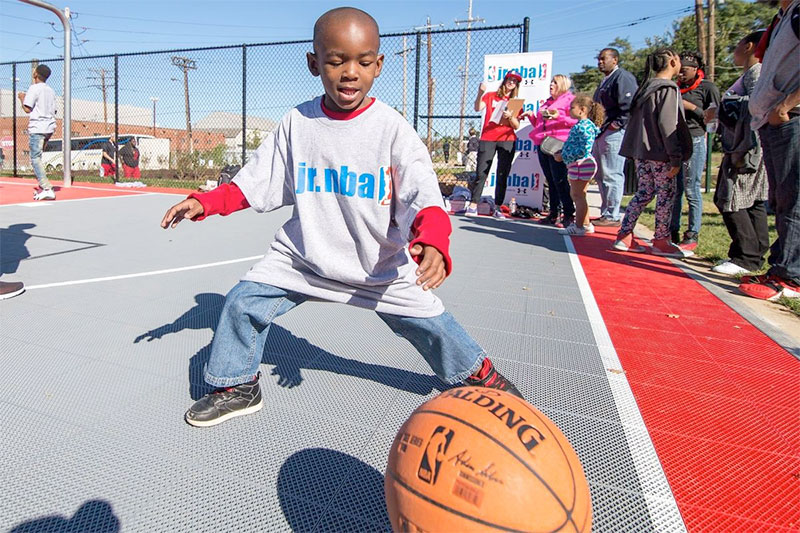 NRPA Community Court Dedication with Sport Court St. Louis