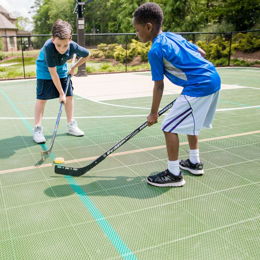 Playing Hockey on a Home Sport Court