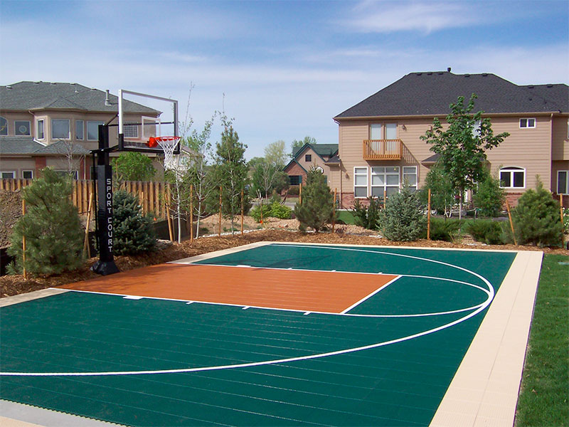Prepare your sport court game court for winter sport court for How much to make a basketball court