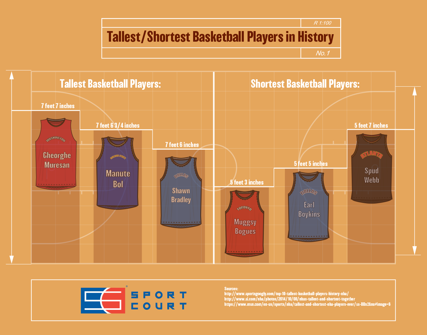 Tallest/Shortest Basketball Players in History