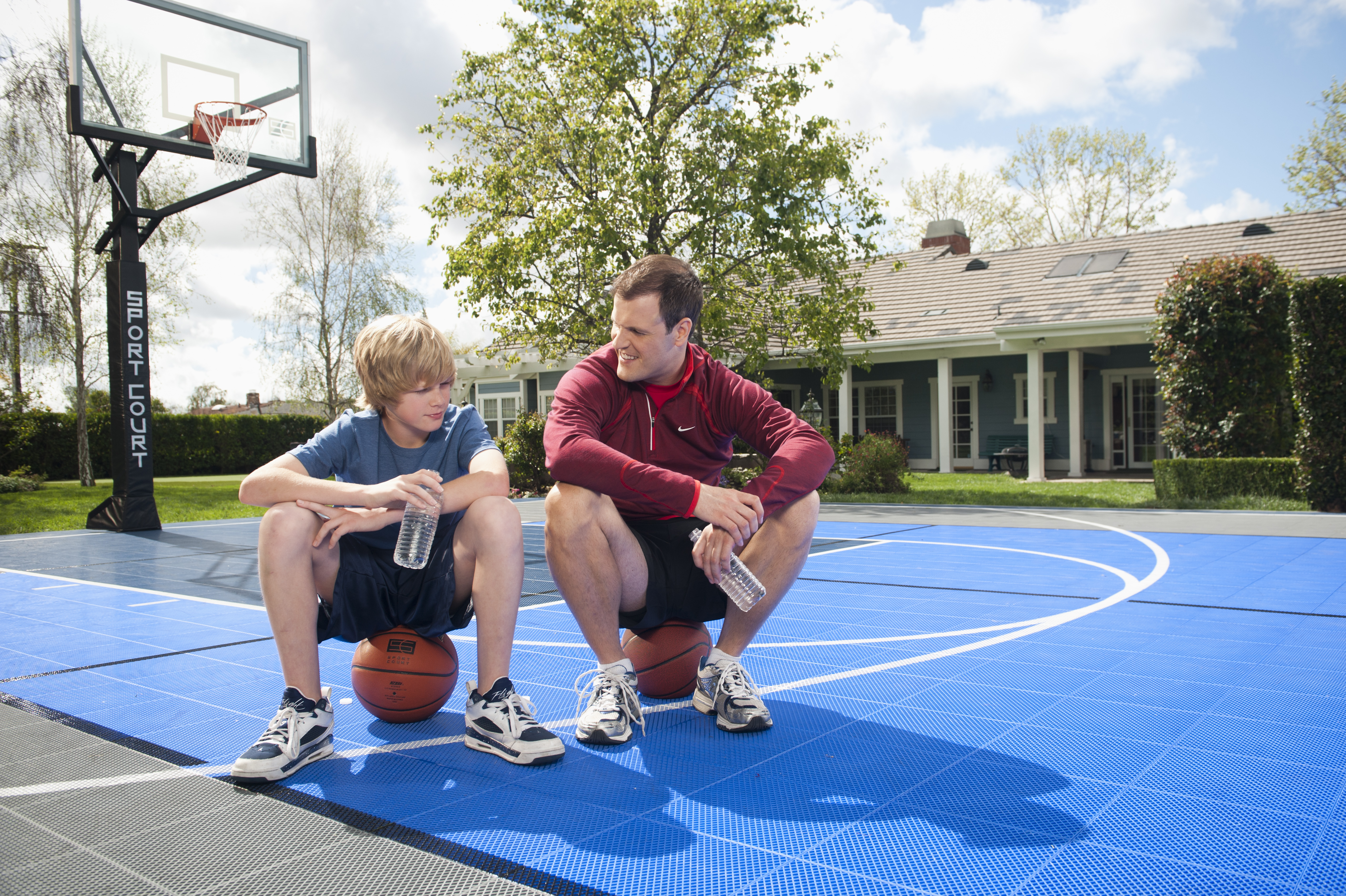 Athletes with attitude learning from the pros sport court for Home sports courts