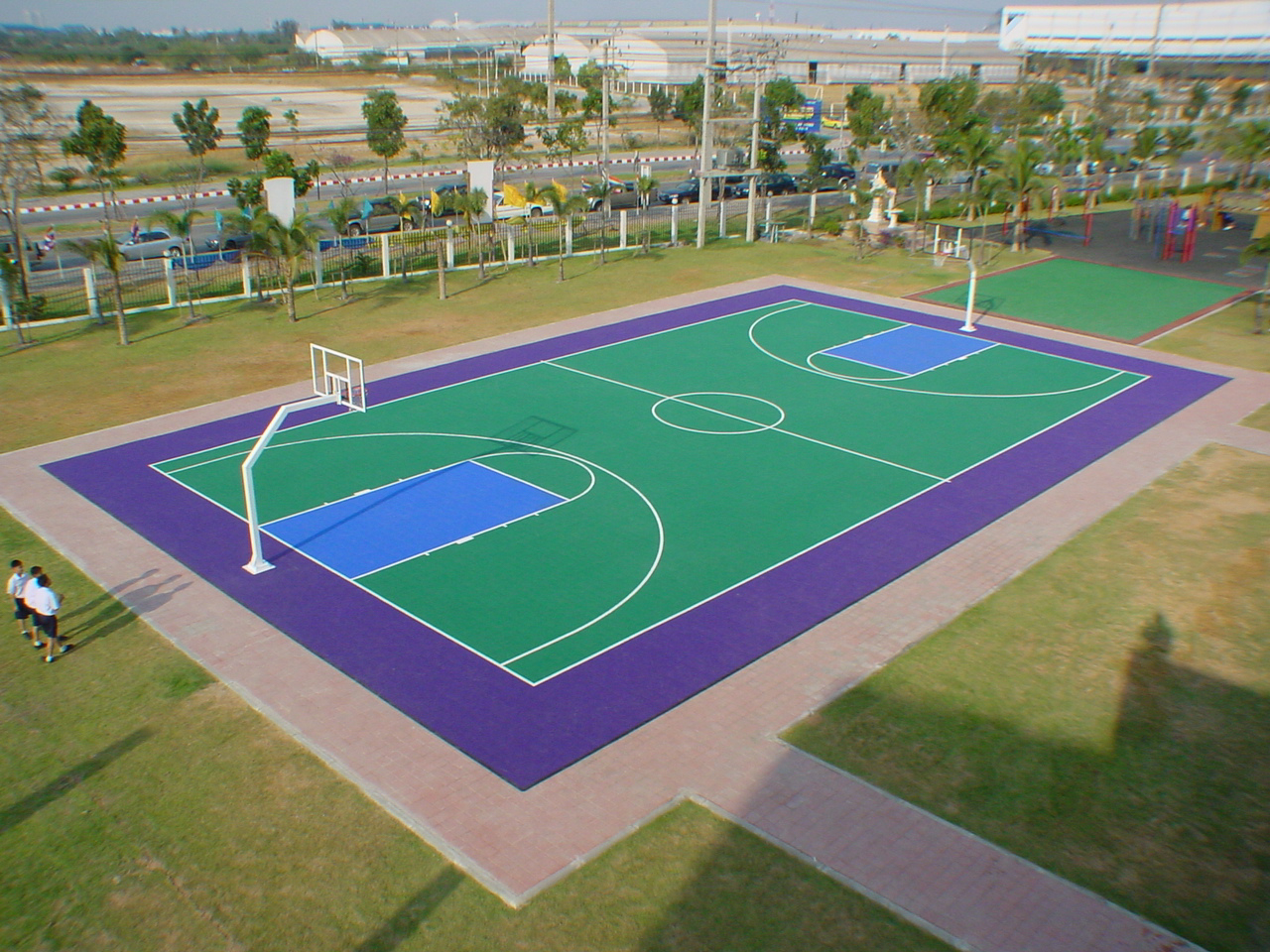 Sport court experienced courtbuilders sport court for Backyard sport court