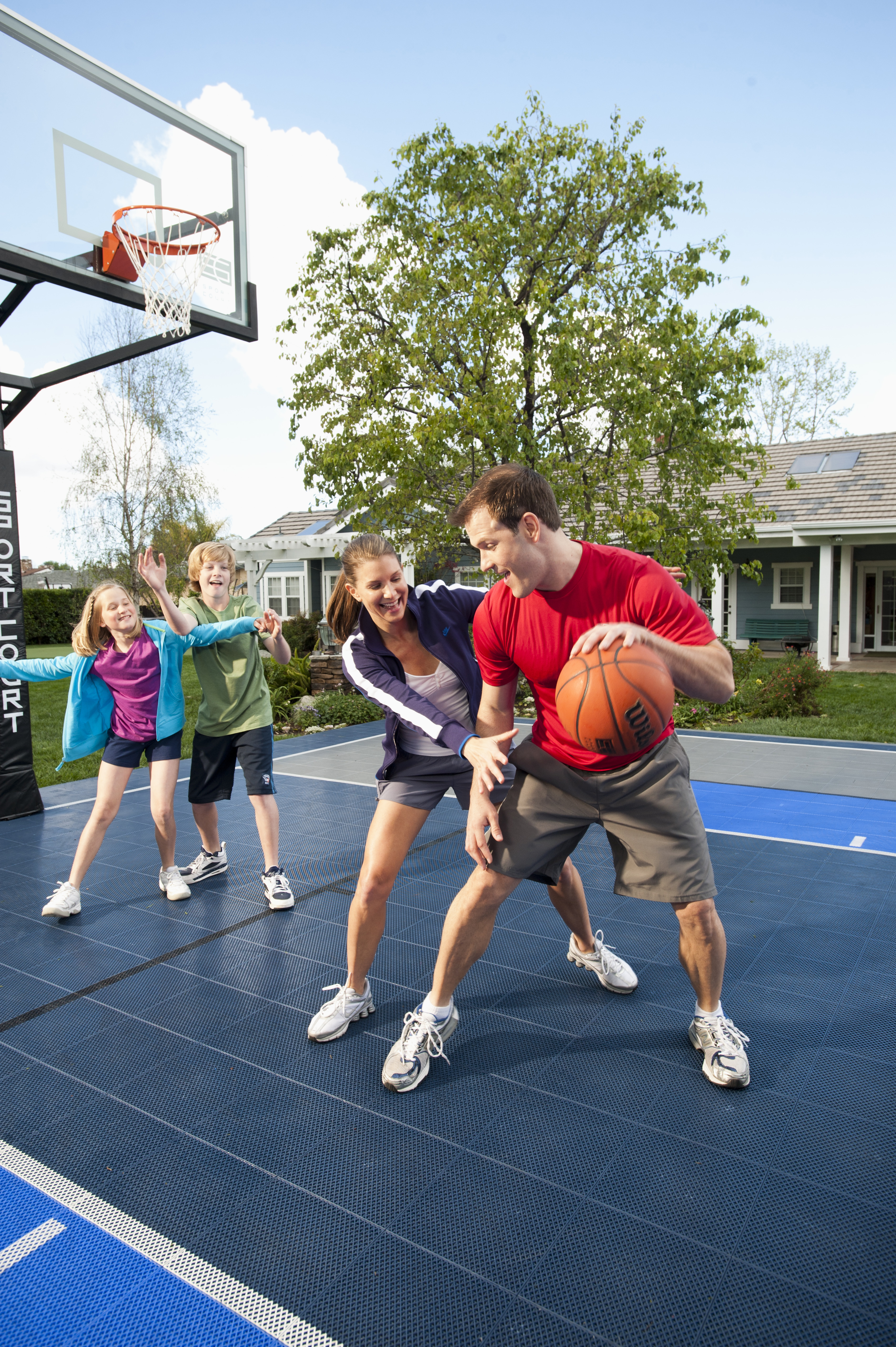 selecting a safe sport surface for your family sport court