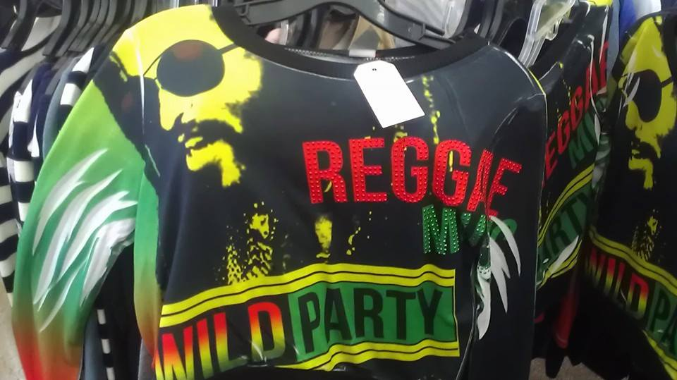 Ladies Reggae, Long Sleeve, Crop Top