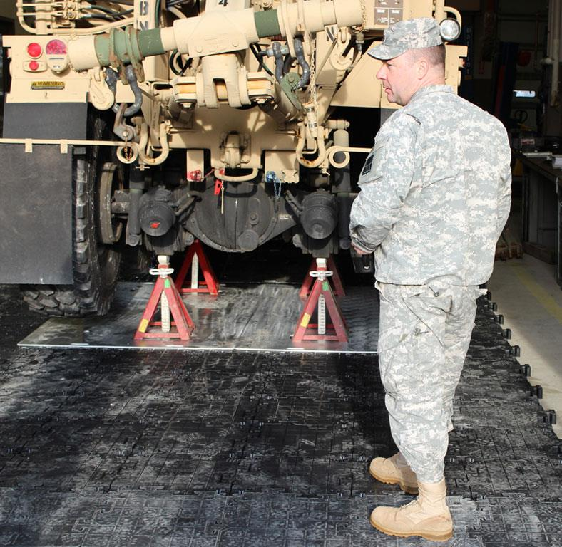 416th Theater Engineer Command Tests Temporary Maintenance Pad