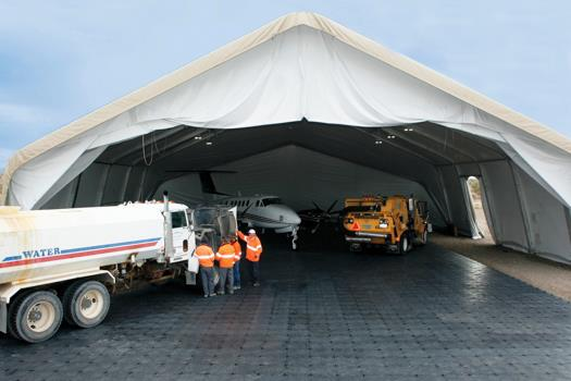 Temporary Aircraft Hangars