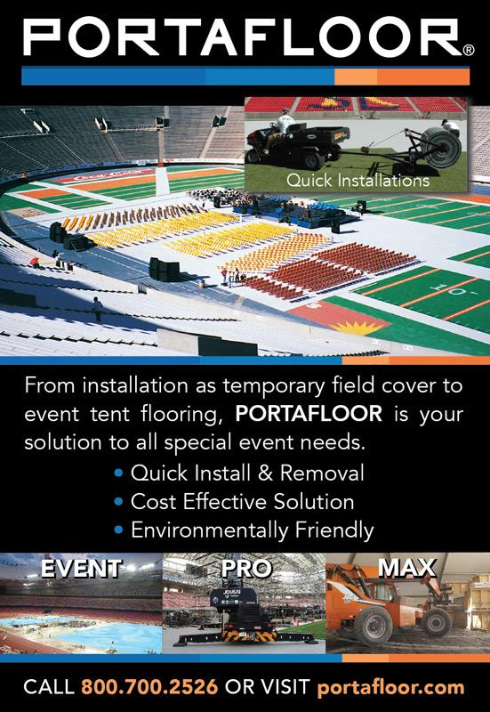 Portafloor temporary field cover and event tent flooring