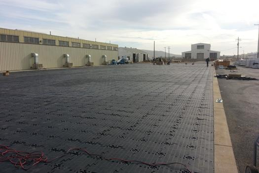 MAX Matting serves as Concrete Pad Replacement