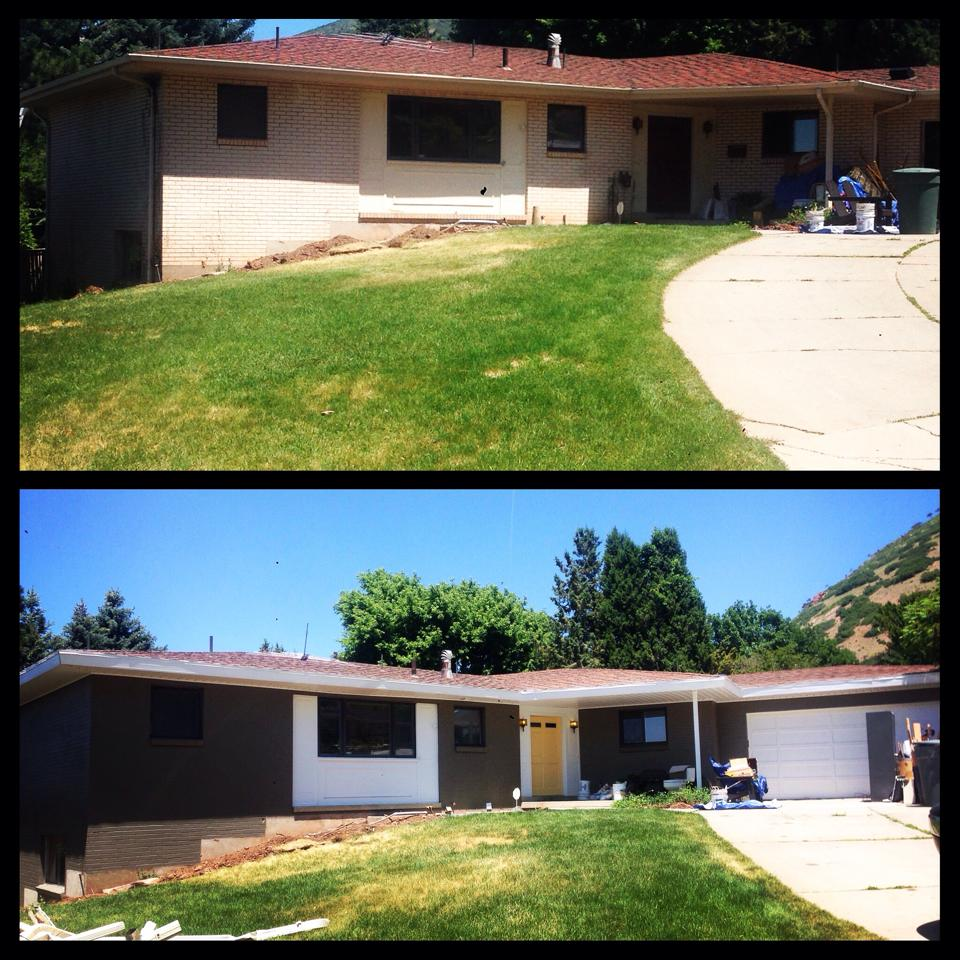 Before & After Exterior Paint