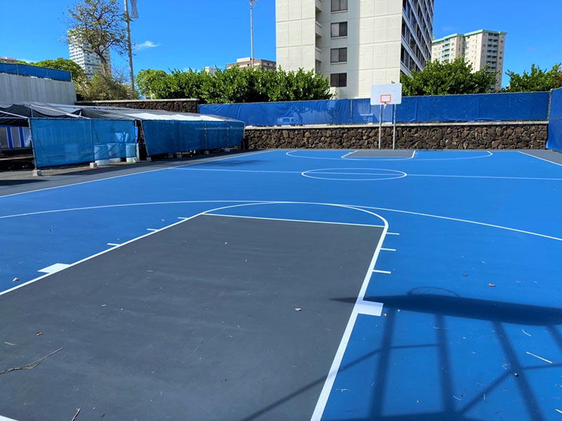 Moanalua High School Outdoor Basketball Court Improvements
