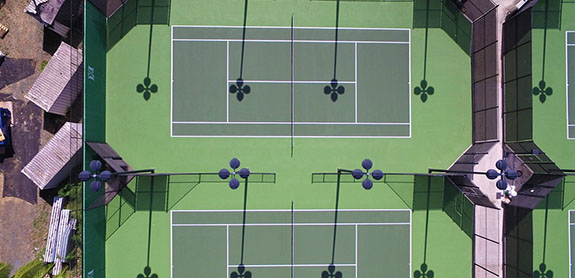 Hawaii Outdoor tennis court