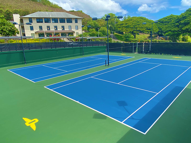 Punahou School Resurface Tennis Courts 5 & 6