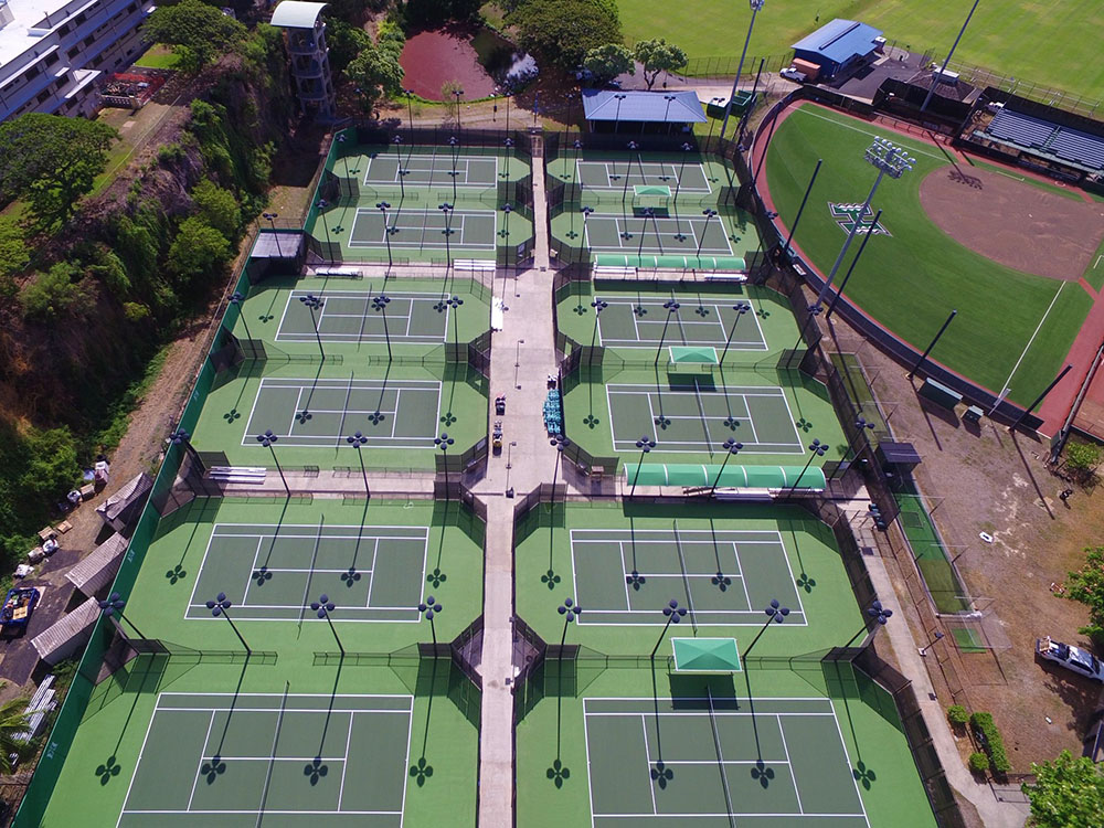 University of Hawaii at Manoa Tennis Court Renovation