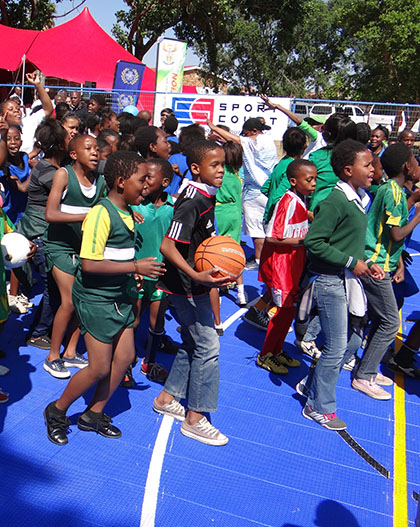 Courts for Communities: Court Dedication in Soweto South Africa with Beyond Sport and The Sports Trust