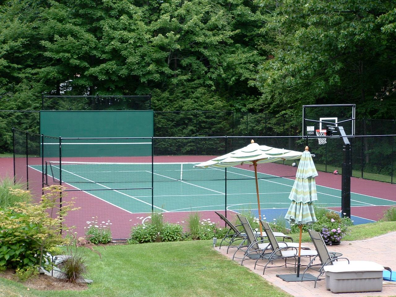 How To Make Tennis Court In Backyard