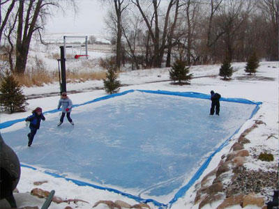 Embrace cold turn your sport court game court into an for How to build a sport court