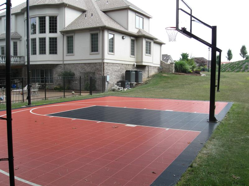 High School colored Sport Court basketball court