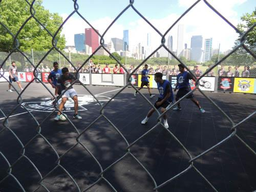 Chicago FIFA World Cup Viewing Party Features Sport Court Street Soccer Court