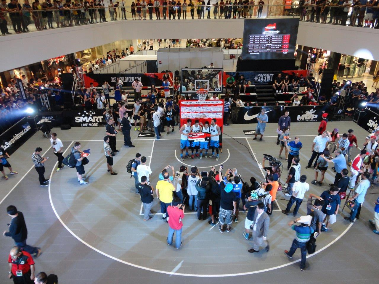 Award Check Handed out on the Sport Court Basketball Court in Manilla
