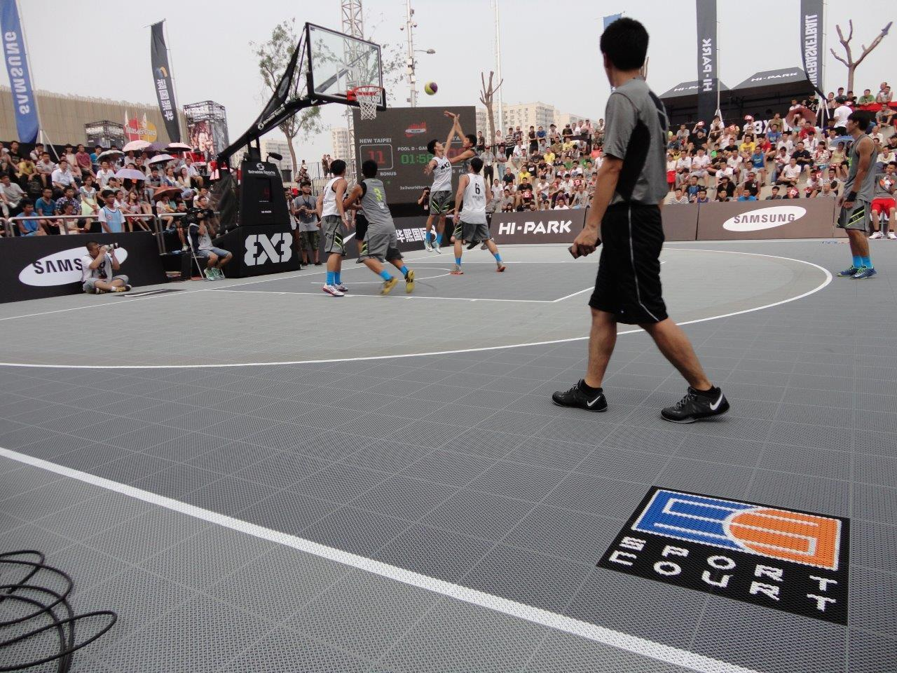 3x3 action on the Sport Court Basketball Court