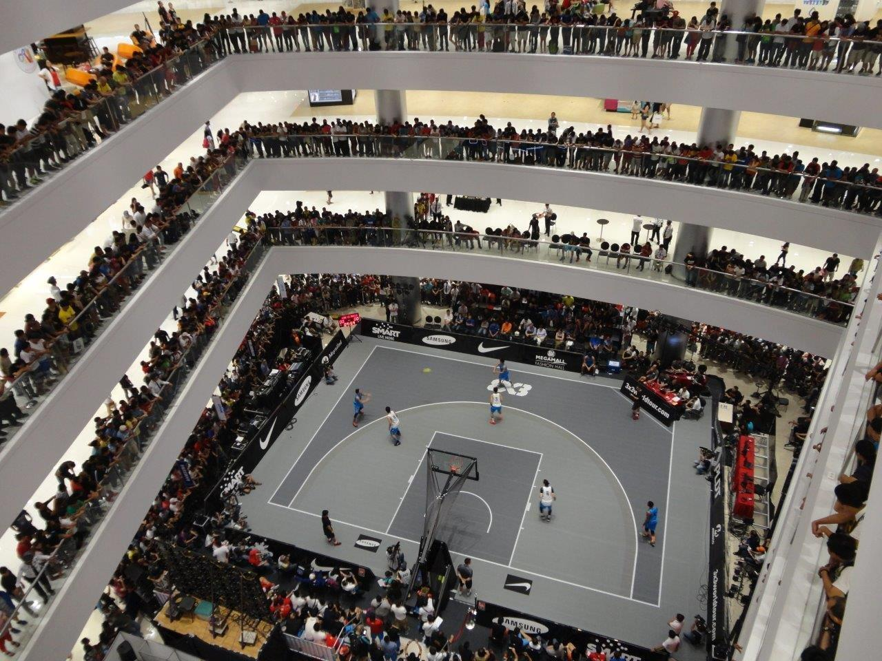 FIBA 3x3 World Tour in Manilla Mall on Sport Court Portable Basketball Courts