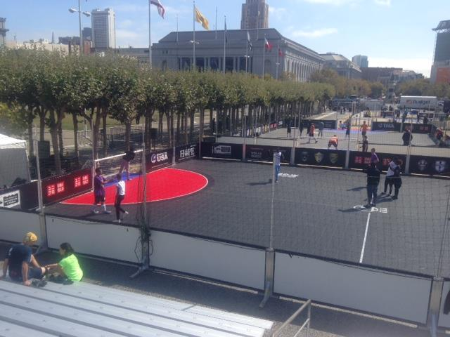 Street Soccer Court by Sport Court for Street Soccer USA