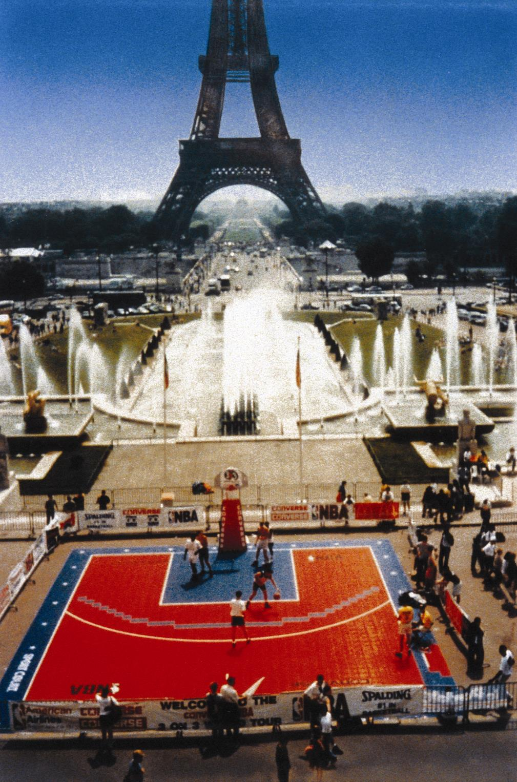 NBA Basketball on Sport Court in Paris