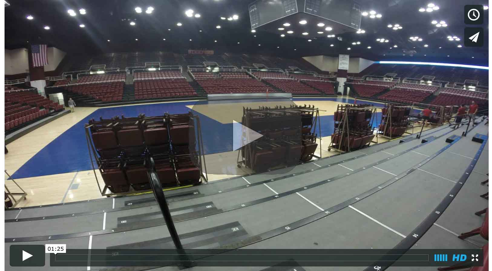 2015 Men's DI NCAA National Volleyball Championship Court Installation Time Lapse