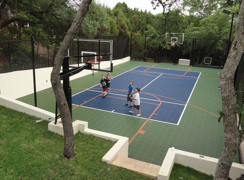 10 summer backyard court activities from sport court for How to build basketball court