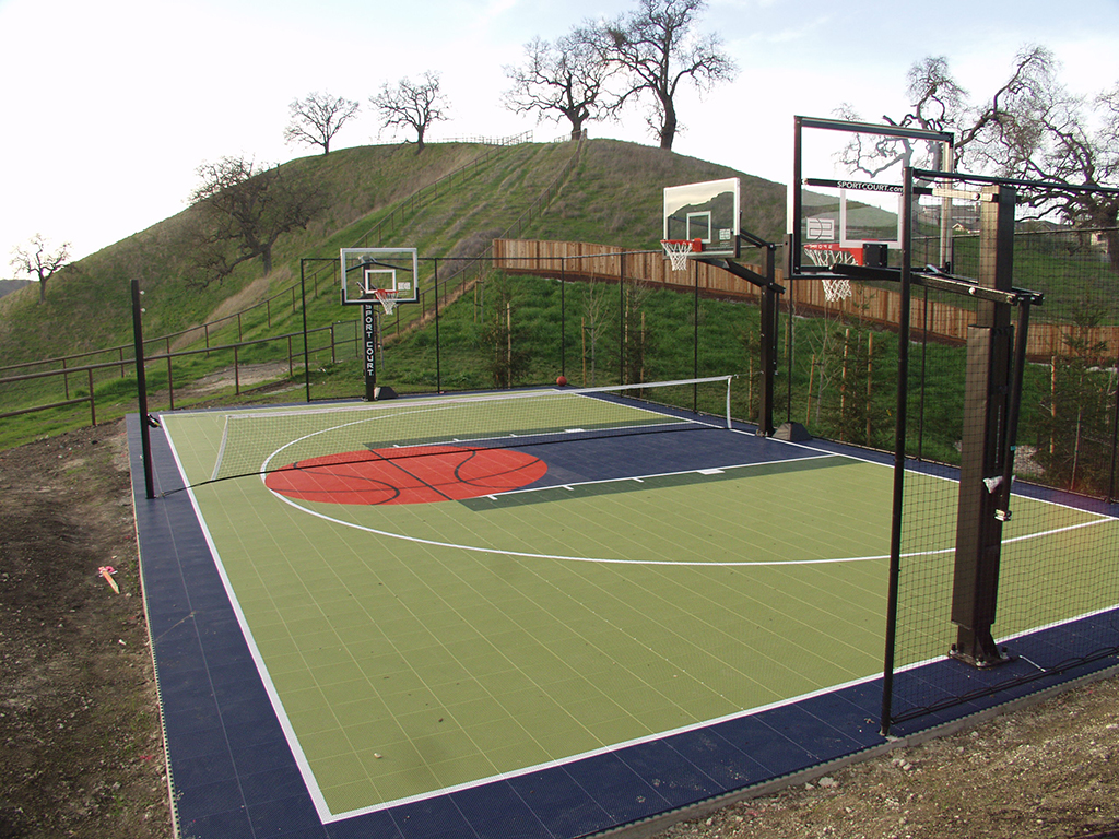 Sport Court Backyard Court with logo