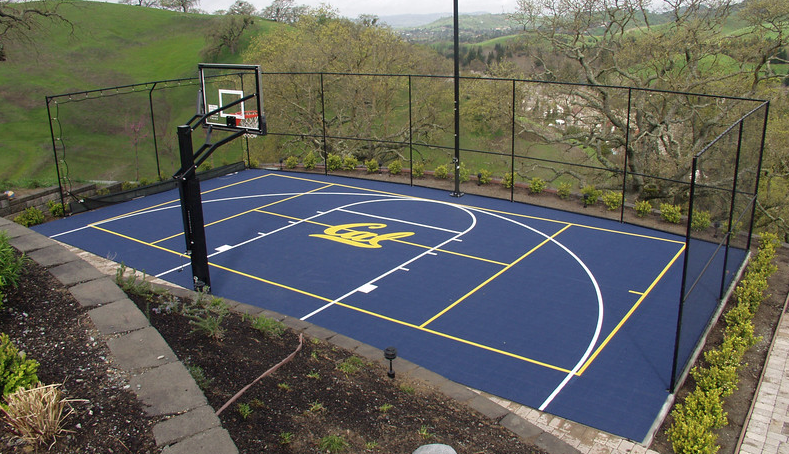 wonderful home sports courts #7: Choosing the Right Color and Design for Your Home Basketball Court