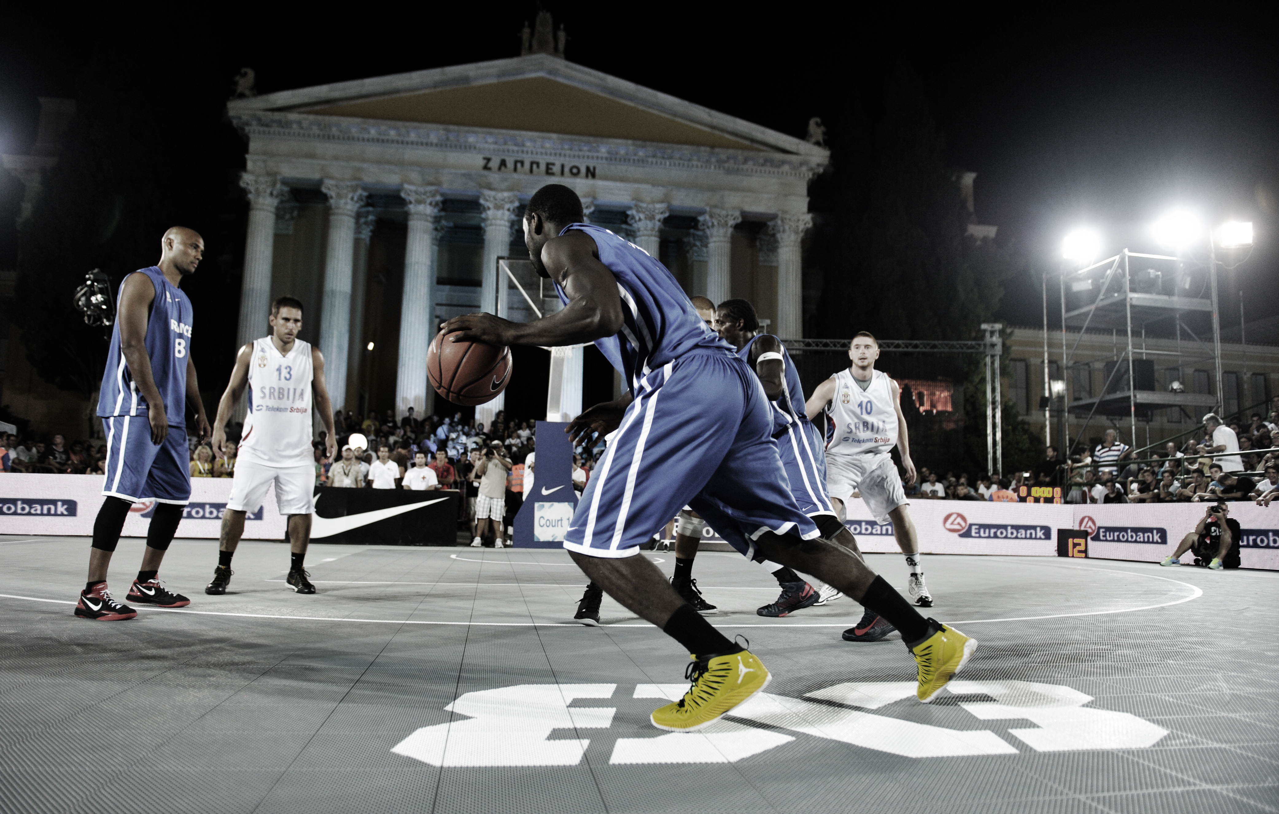 FIBA 3x3 Tournament on a Sport Court Basketball Court