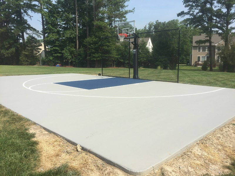 Backyard Acrylic Basketball Court