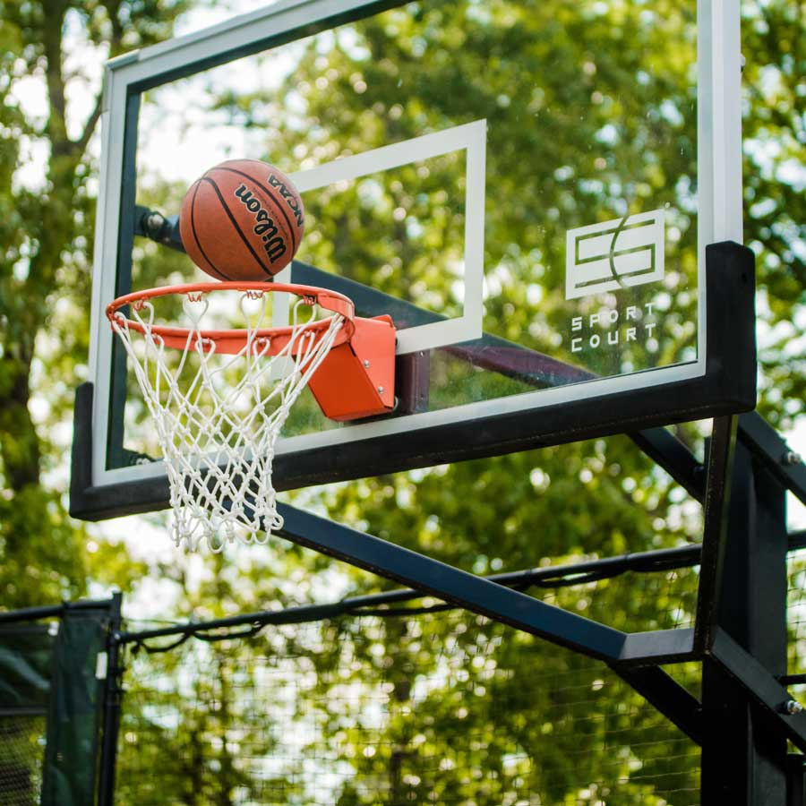 sport court outdoor basketball hoop