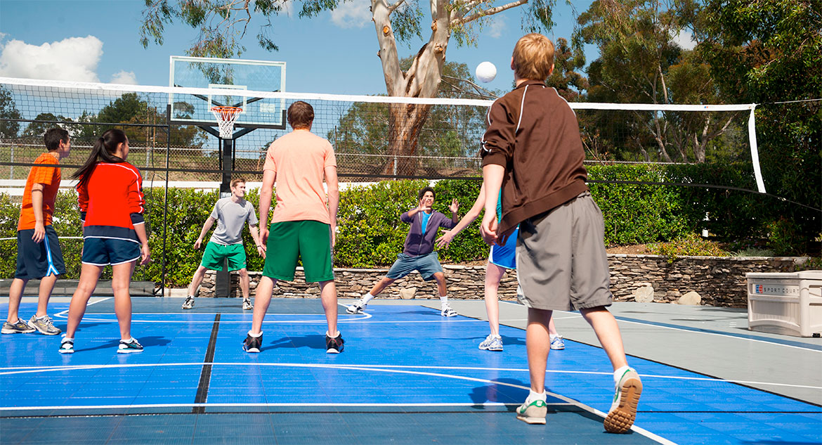 Sport Court Home Basketball Court & Volleyball Court