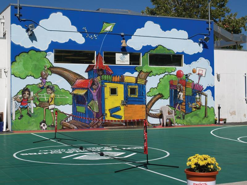 commercial basketball courts