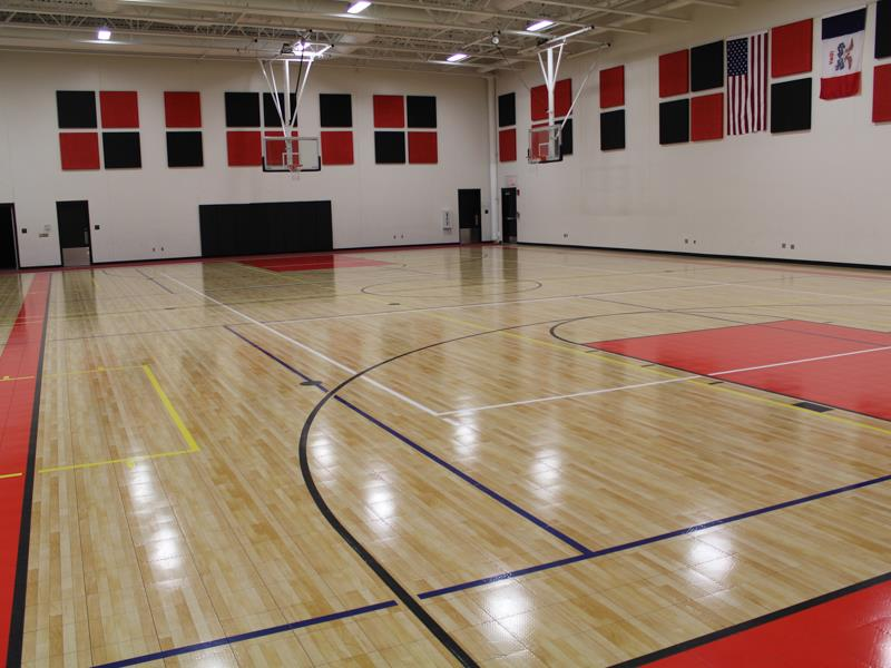 Gym floors and outdoor courts installations for commercial Basketball court installation cost