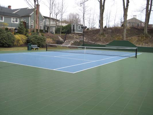 backyard tennis courts