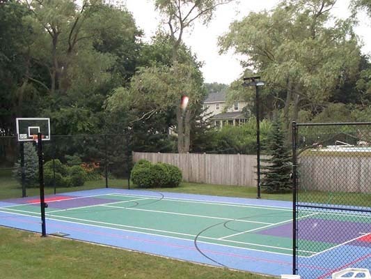 New home sport court of massachusetts for Basketball court cost estimate