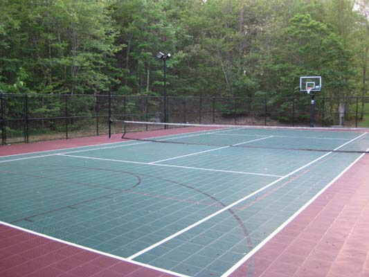 Cost to build a tennis court sport court of massachusetts for Basketball court cost estimate