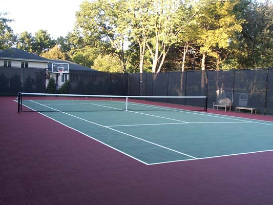 How To Make Tennis Court In Backyard : Cost to Build a Tennis Court  Sport Court of Massachusetts