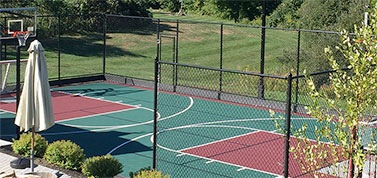 Home putting green, shuffleboard, tennis court, and basketball court all by Sport Court