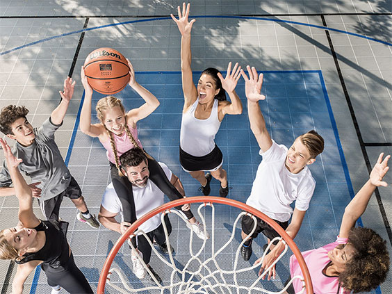 Home Basketball Court by Sport Court MA