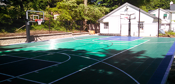 Sport Court Backyard Basketball Court